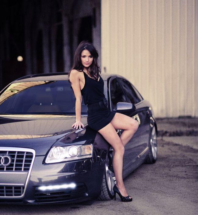 Очень красивые девушки и авто фото 509-761