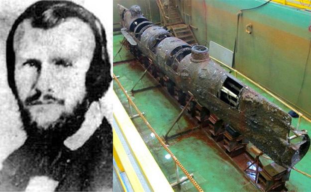 подводная лодка времен гражданской войны в сша