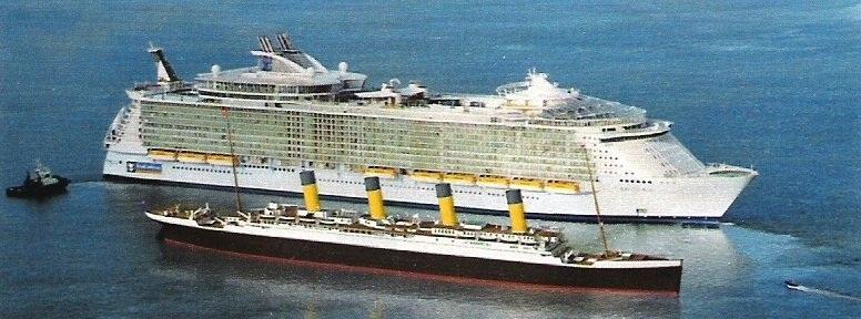 сравнение титаника с современными лайнерами фото